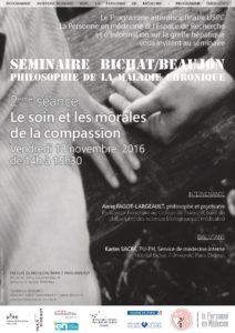 Philosophie de la maladie chronique : » Le soin et les morales de la compassion»