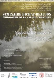 Philosophie de la maladie chronique :  « Introduction : médecine et philosophie »
