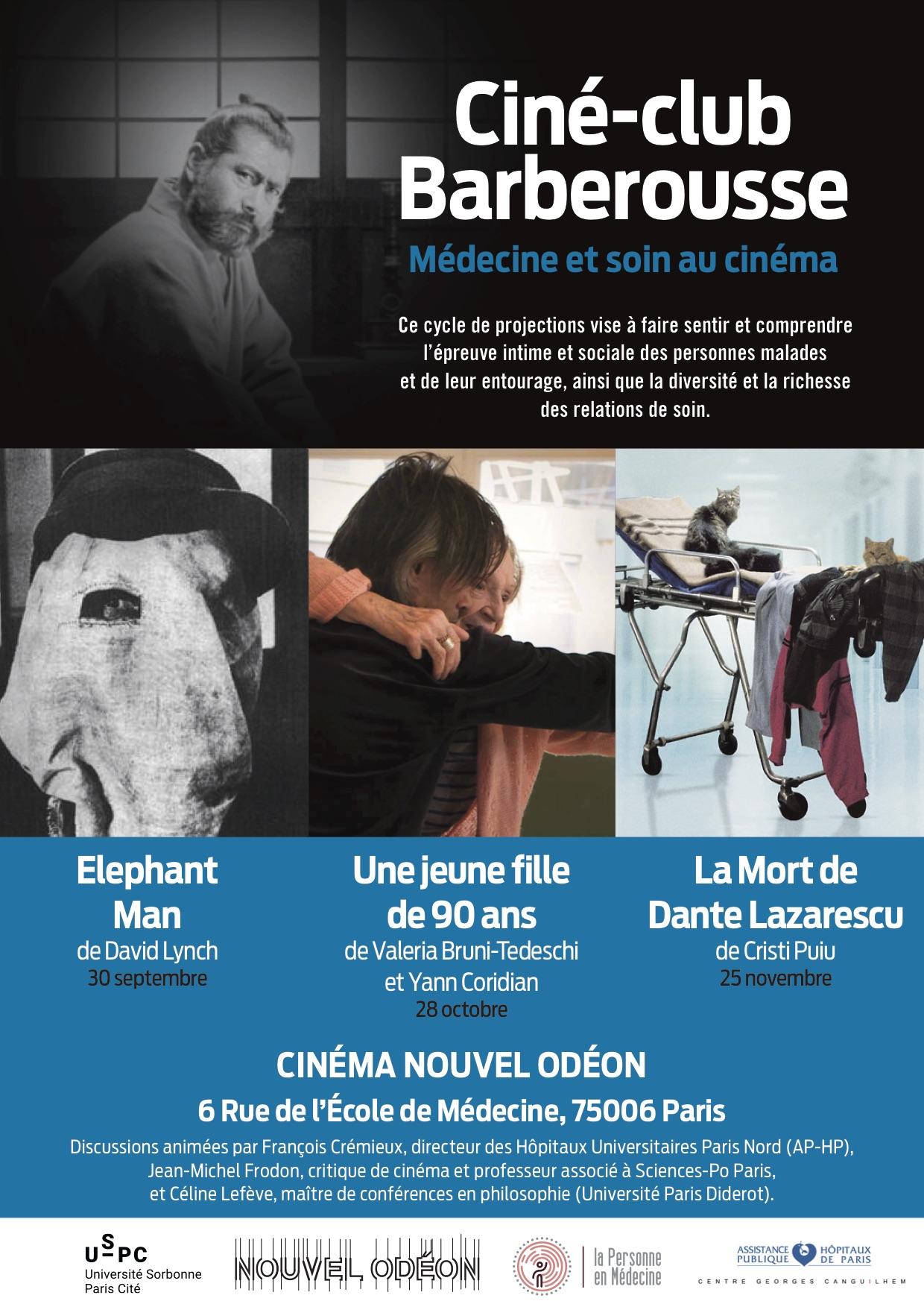 «Ciné-club Barberousse. Médecine et soin au cinéma»