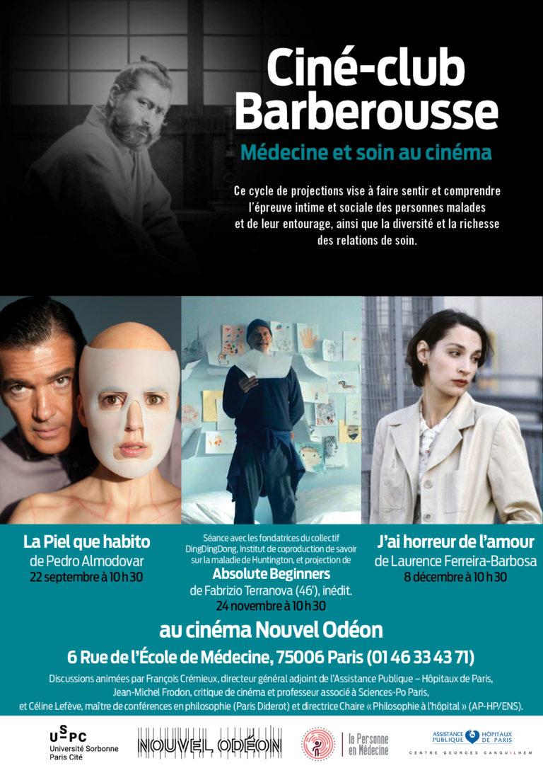 Ciné-club Barberousse. Médecine et soin au cinéma. Programme 1er trimestre 2018/2019